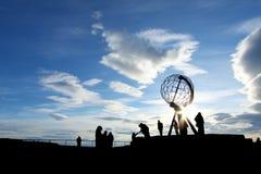 De Kaap van het noorden, Noorwegen stock foto