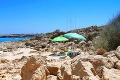 De kaap van Kavogreko in Cyprus Royalty-vrije Stock Afbeeldingen