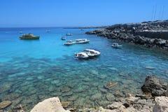 De kaap van Kavogreko in Cyprus Stock Fotografie
