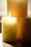 De kaars van Aromatherapy Stock Afbeeldingen