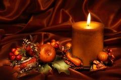 De kaars van de herfst Stock Foto