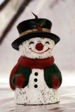 De kaars van de sneeuwman Royalty-vrije Stock Fotografie