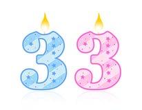 De kaars van de verjaardag - 3 royalty-vrije illustratie