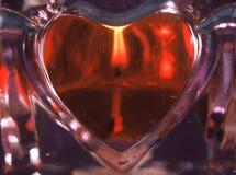 De Kaars van het hart Stock Afbeeldingen