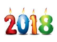 De kaars van het Newwjaar Stock Foto's