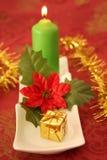 De kaars van Kerstmis Stock Foto