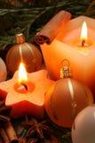 De kaars van Kerstmis Royalty-vrije Stock Afbeelding