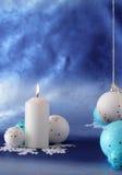 De kaars van Kerstmis. Royalty-vrije Stock Afbeeldingen