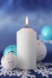 De kaars van Kerstmis. Stock Foto