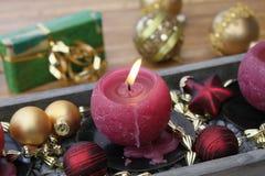 De kaars van Kerstmis Stock Foto's
