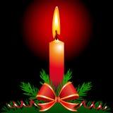 De kaars van Kerstmis Stock Afbeeldingen