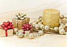 De Kaars van Kerstmis. Stock Afbeelding