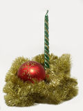 De kaars van Kerstmis. Royalty-vrije Stock Fotografie