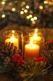 De Kaars van Kerstmis Royalty-vrije Stock Afbeeldingen