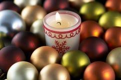 De kaars van Kerstmis Stock Afbeelding