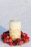 De kaarsdecoratie van Kerstmis Royalty-vrije Stock Afbeelding