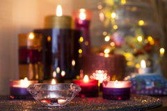 De kaarsen van Blured Royalty-vrije Stock Fotografie
