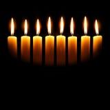 De kaarsen van Channukah Stock Afbeelding