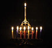 De kaarsen van Chanuka Stock Fotografie