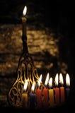 De kaarsen van Chanuka Stock Afbeelding