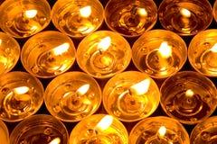 De kaarsen van de brand Royalty-vrije Stock Afbeeldingen