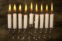 De kaarsen van de Chanoeka royalty-vrije stock fotografie