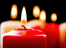 De kaarsen van de close-up Stock Foto's