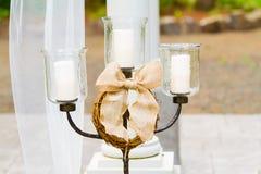 De Kaarsen van de huwelijksceremonie Stock Foto's