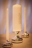 De Kaarsen van de huwelijkseenheid Stock Foto