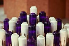 De Kaarsen van de kerk Stock Foto