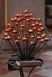 De kaarsen van de kerk Stock Foto's