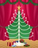 De kaarsen van de kerstboom vector illustratie