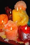 De Kaarsen van de kleur Stock Foto's