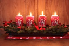De Kaarsen van de komst Stock Foto's