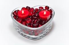 De Kaarsen van de liefde Stock Afbeeldingen