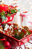 De kaarsen van de lijstdecoration Stock Foto's