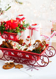 De kaarsen van de lijstdecoration Royalty-vrije Stock Foto
