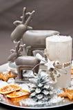 De kaarsen van de lijstdecoration Royalty-vrije Stock Afbeeldingen