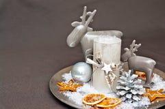 De kaarsen van de lijstdecoration Stock Fotografie