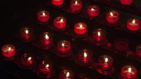 De kaarsen van de Mazurykerk in Polen Stock Fotografie
