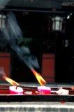 De Kaarsen van de tempel Stock Foto
