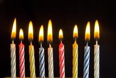 De kaarsen van de verjaardag Royalty-vrije Stock Foto's