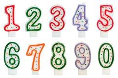 De kaarsen van de verjaardag Stock Foto's