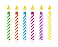 De kaarsen van de verjaardag stock illustratie