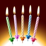 De kaarsen van de verjaardag. Vector illustratie. Royalty-vrije Stock Fotografie