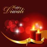 De kaarsen van Diwali Stock Afbeeldingen