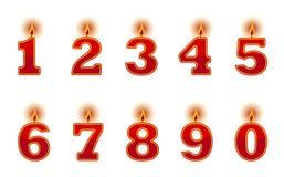 De kaarsen van het aantal Stock Foto