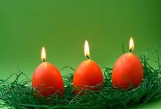 De kaarsen van het ei Stock Fotografie