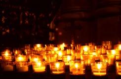 De Kaarsen van het gebed Stock Foto's