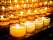 De kaarsen van het gebed Stock Afbeeldingen